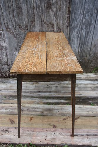 Table made from reclaimed wood by Landrum Tables in Charleston SC http//www