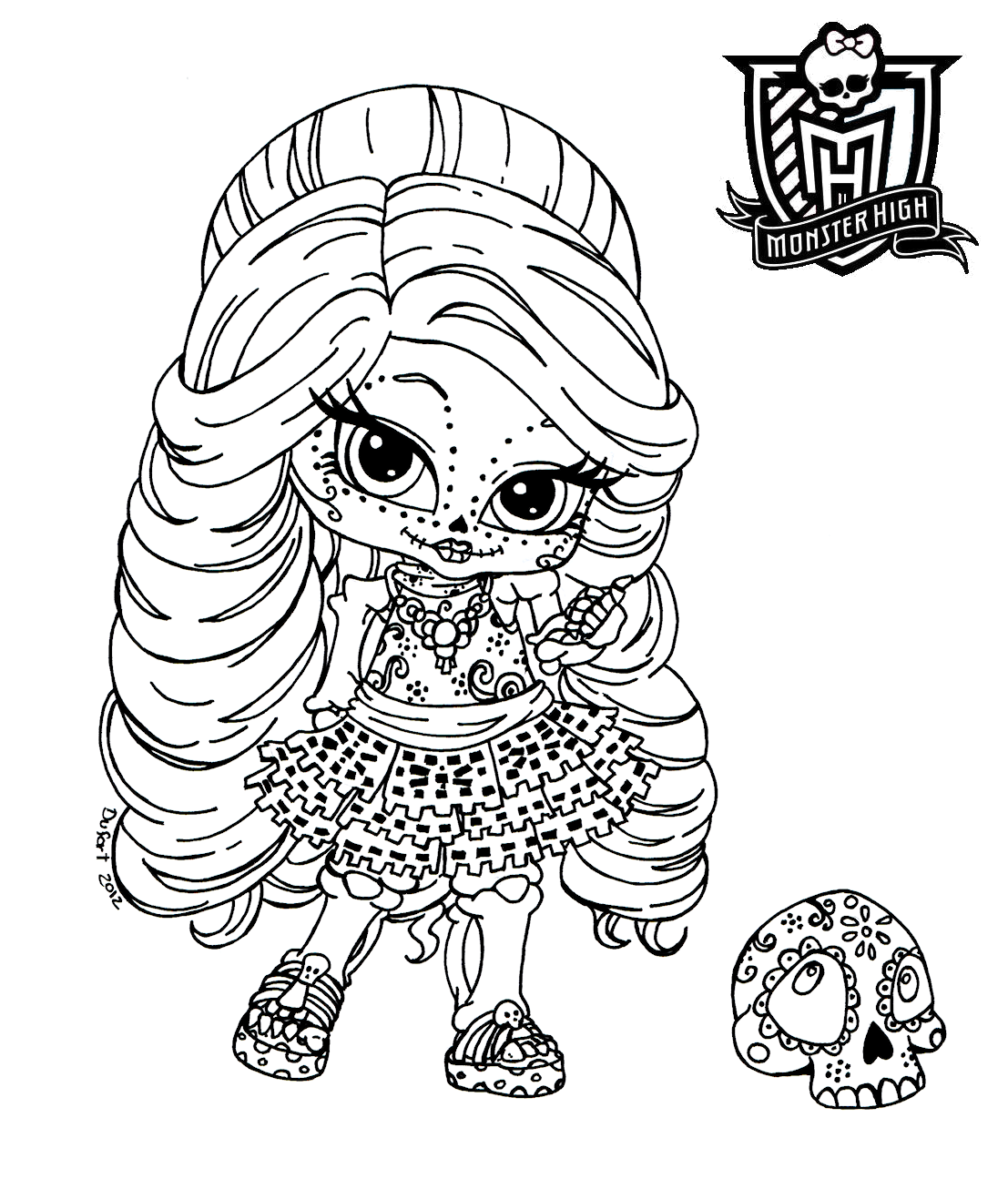 Baby Monster High Coloring Pages | Monster High Coloring Pages