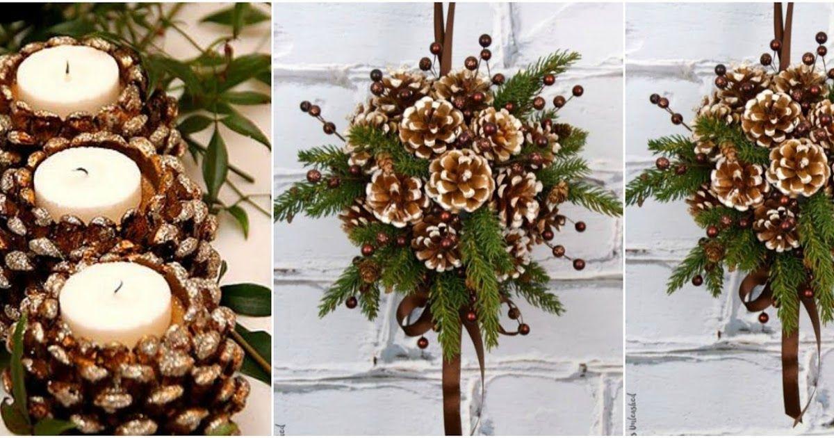 Adornos navidenos en pinas