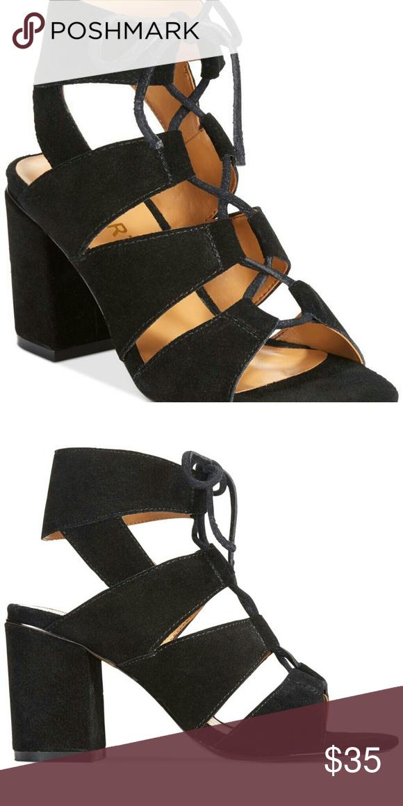 brand strappy black peep toe high heels