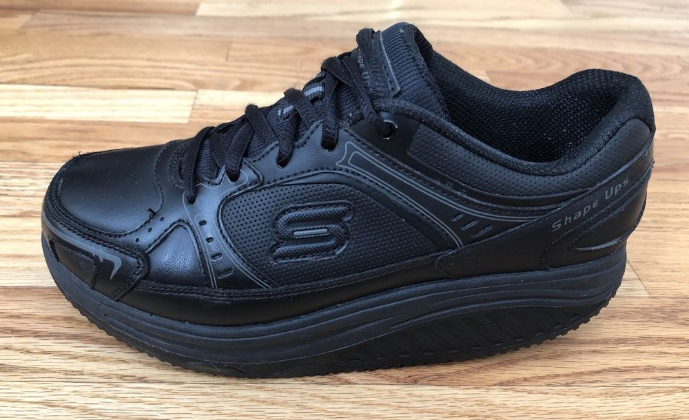 Shape Leather 76557 5 Maisto Black Womens Elon Skechers Ups 6 Work hBtrQdsxC
