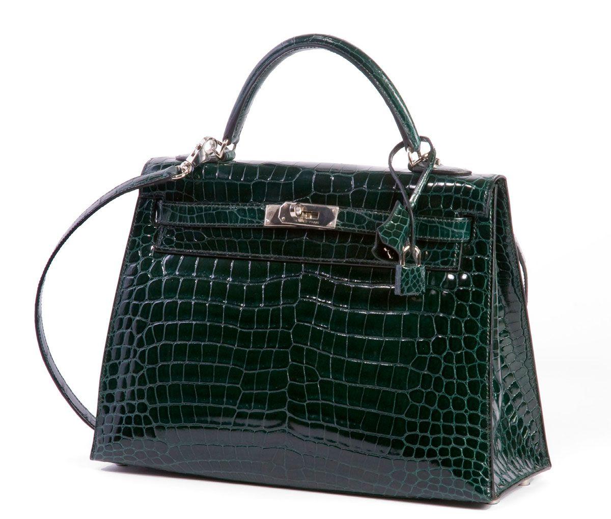 829d1893f239 hermes green crocodile kelly bag