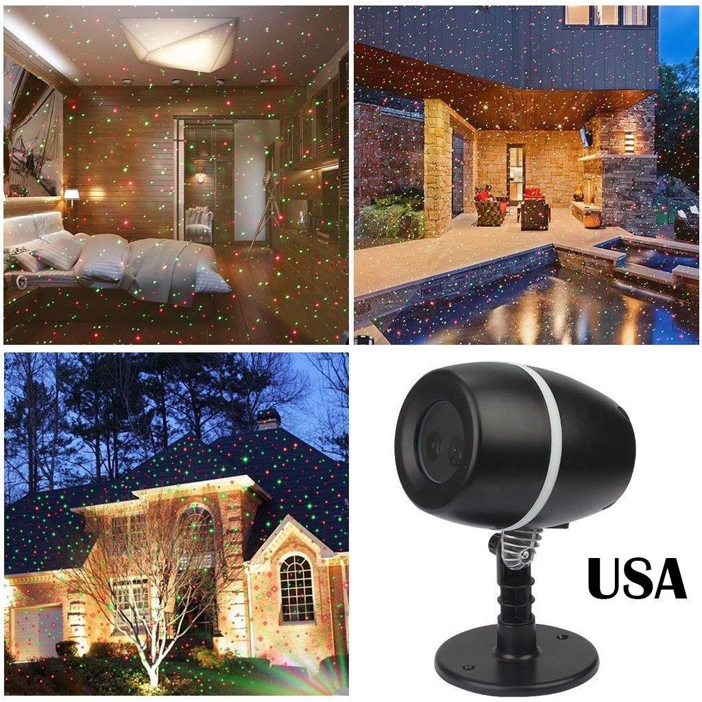 Outdoor Moving Projector Laser Led Garden Christmas Light Stage Light Waterproof Ebay Decorating With Christmas Lights Fairy Lights Christmas Lights