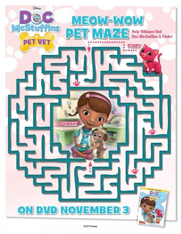 Doc McStuffins Printable Activity & Coloring Pages - Pet Vet | Pinterest