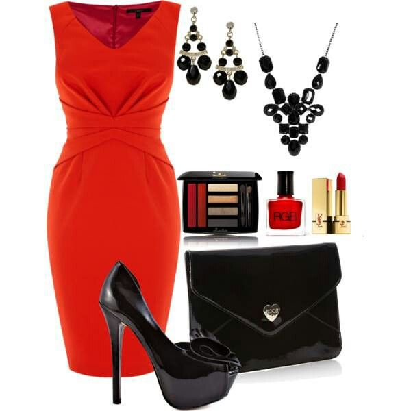 Red Dress With Black Accessories Red Dresses Classy Types Of Fashion Styles Little Red Dress