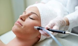 Groupon - One, Three, or Five Microdermabrasion Treatments with Skin