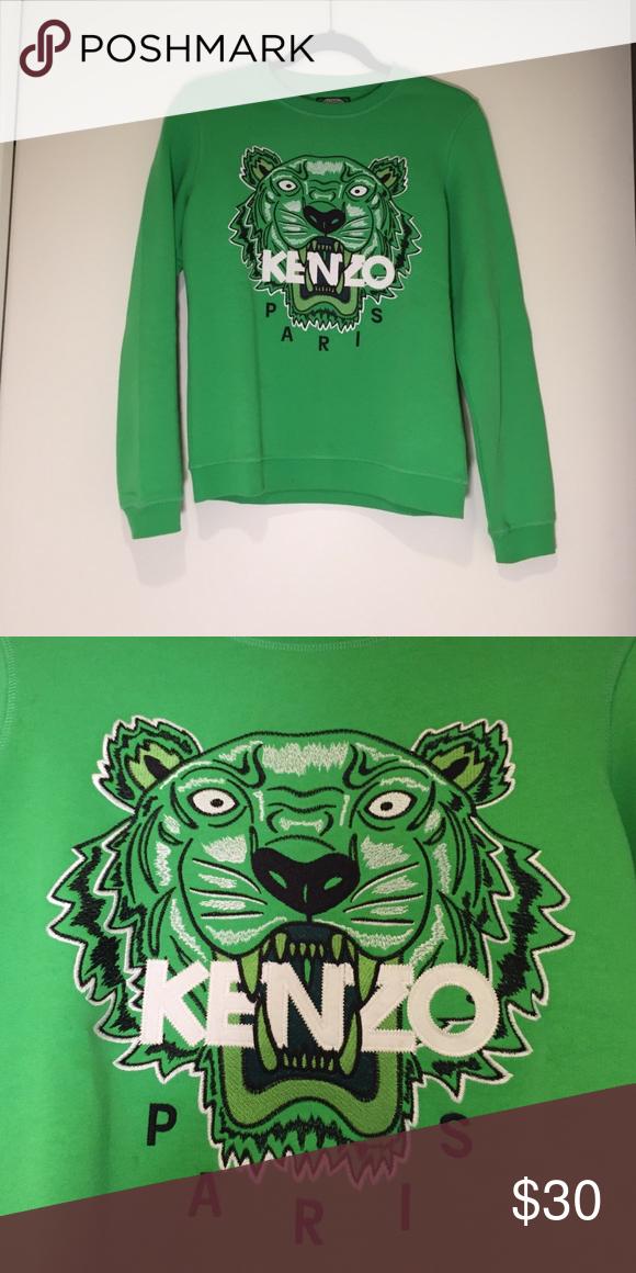 c0ebbb5e Lime green kenzo sweater Lime green, Kenzo logo on front Kenzo Sweaters  Crew & Scoop Necks
