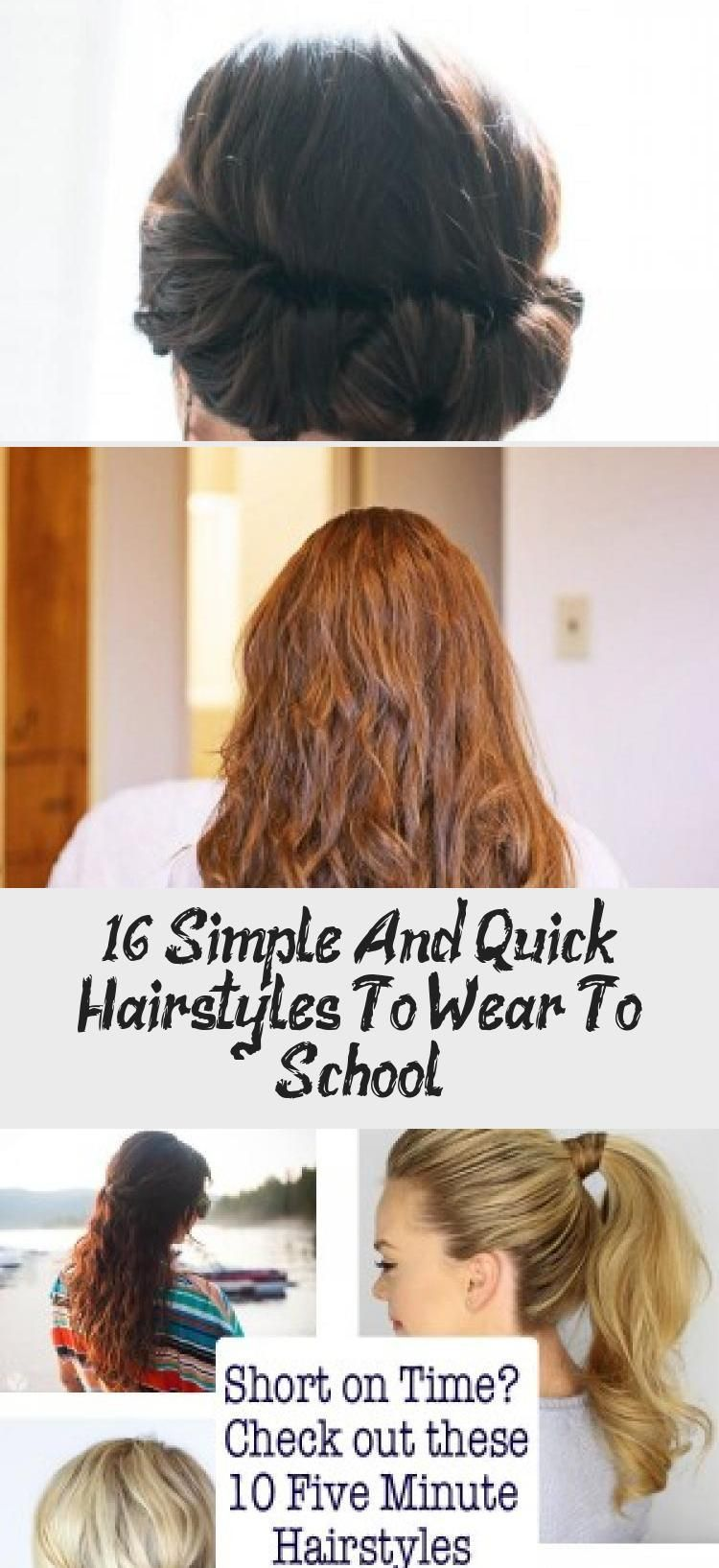 16 Simple And Quick Hairstyles To Wear To School - Hairstyle -  16 Simple and Quick Hairstyles to Wear to School #howdoesshe #hairstyles #beauty #quic...#beauty #hairstyle #hairstyles #howdoesshe #quic #quick #school #simple #wear
