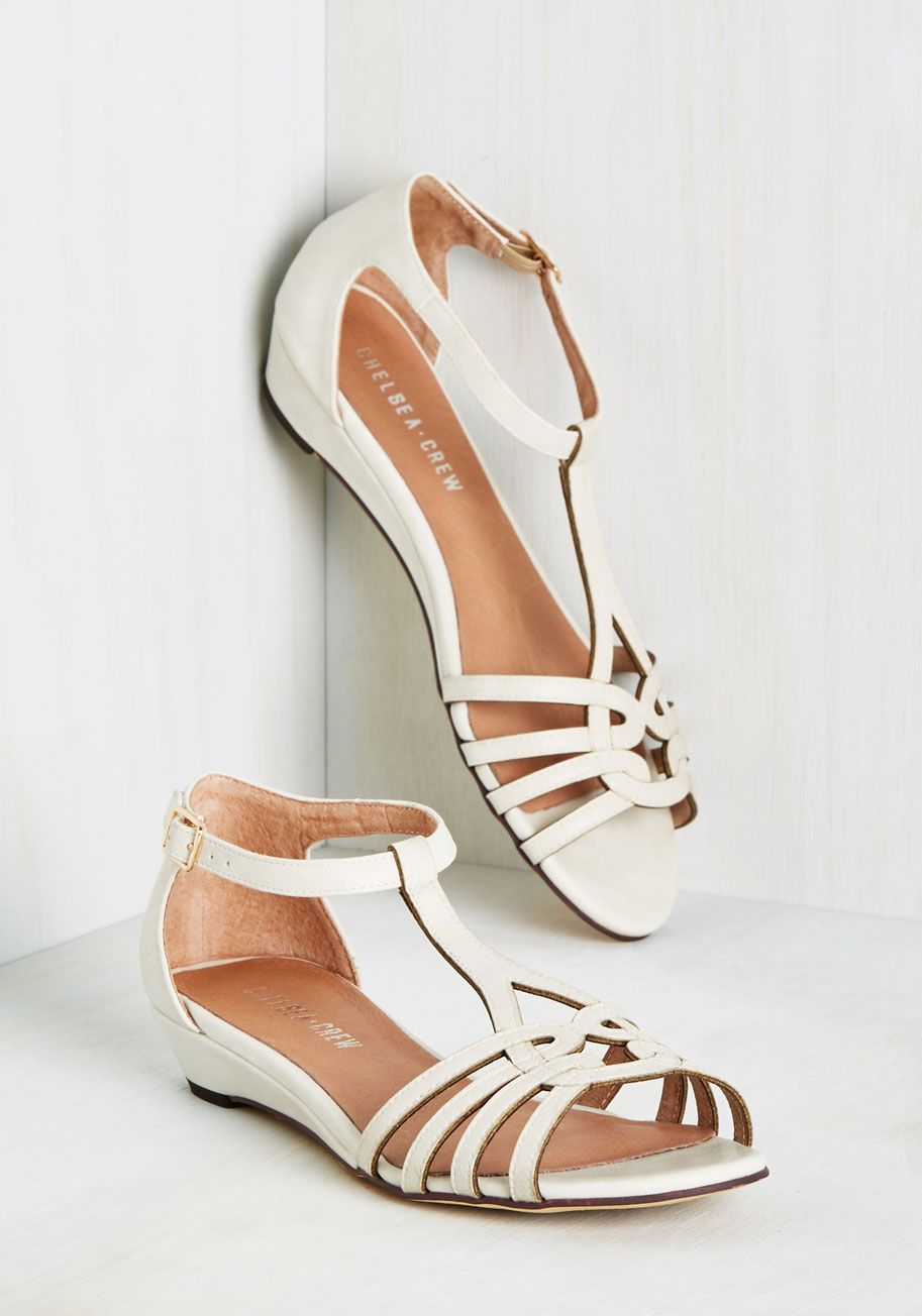 d98640fc51f135 Wanna Prance with Somebody Sandal in Ivory. Feel the heat as you skip down  the sunny boardwalk