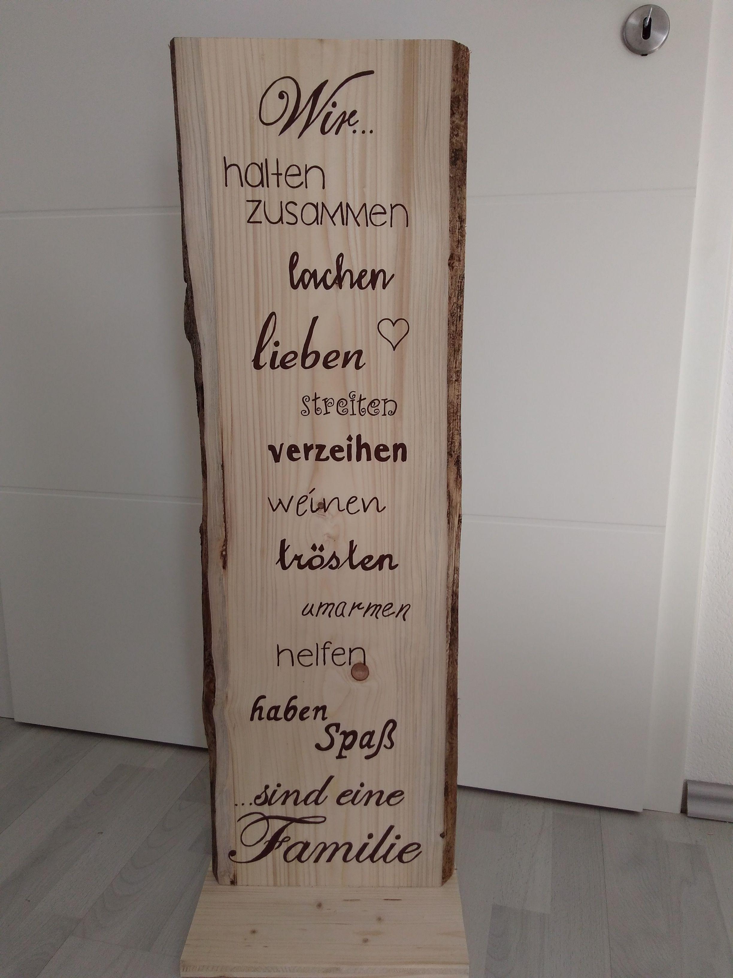 Deko Familie Geschenk Holz Schild Spruch Holz Schild