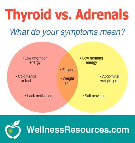 Low Thyroid Vs Adrenal Fatigue Adrenal Health Thyroid Health