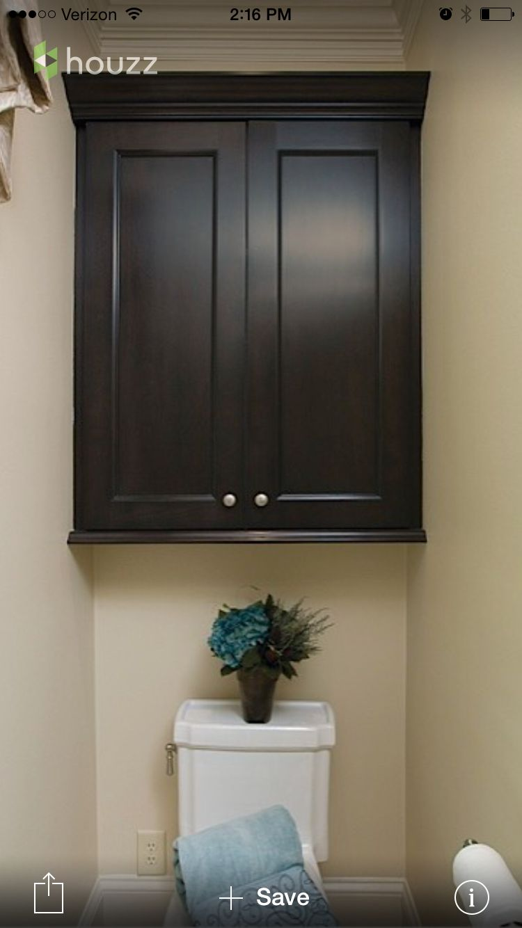Cabinet above toilet in master bath | Home Mold Damage | Pinterest ...