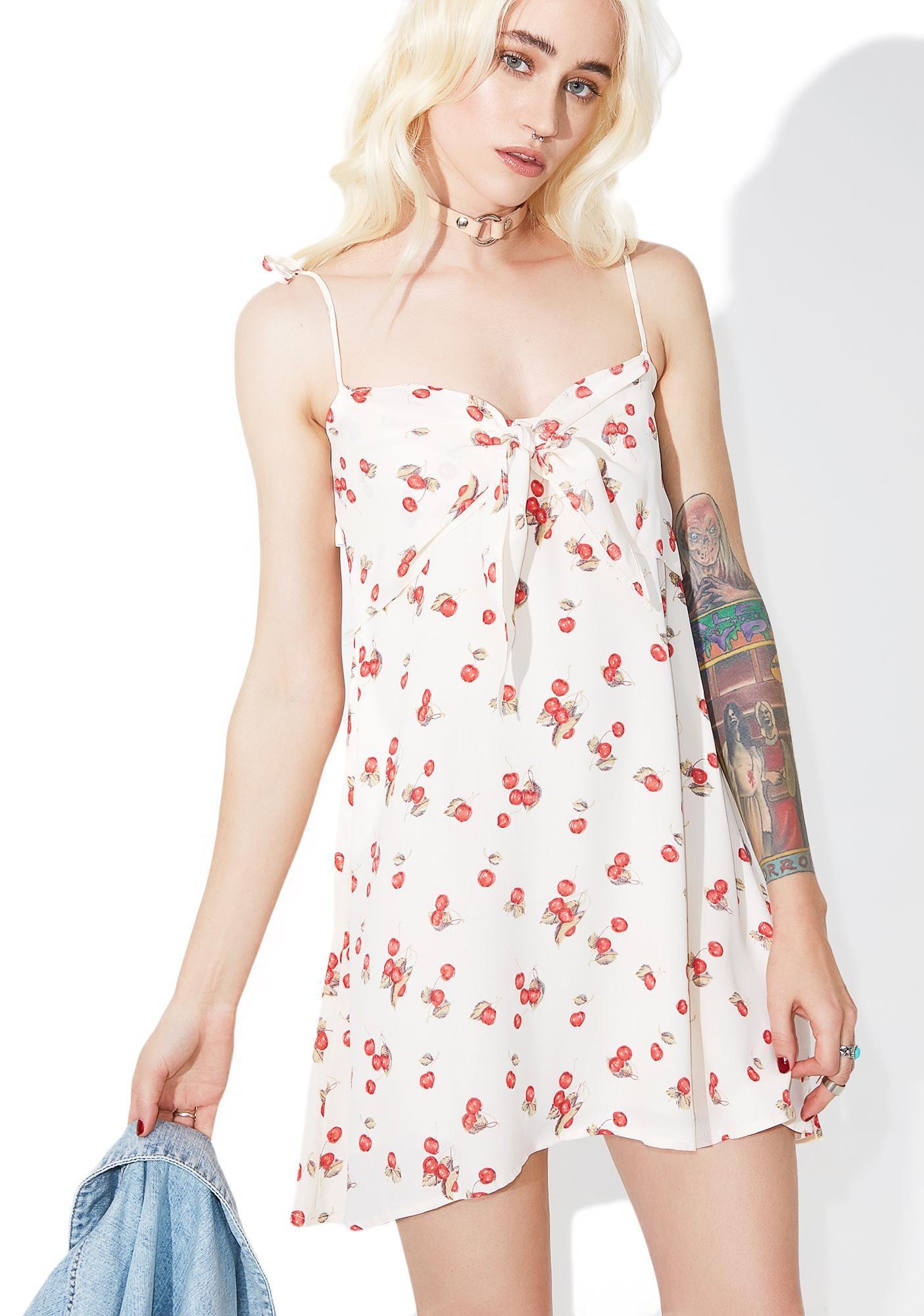 Cherry Tank Dress Tank Dress Fashion Embroidered Dress [ 2000 x 1405 Pixel ]