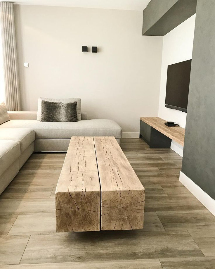 Photo of How heavy is this !! A coffee table made of oak beams. Ask for that