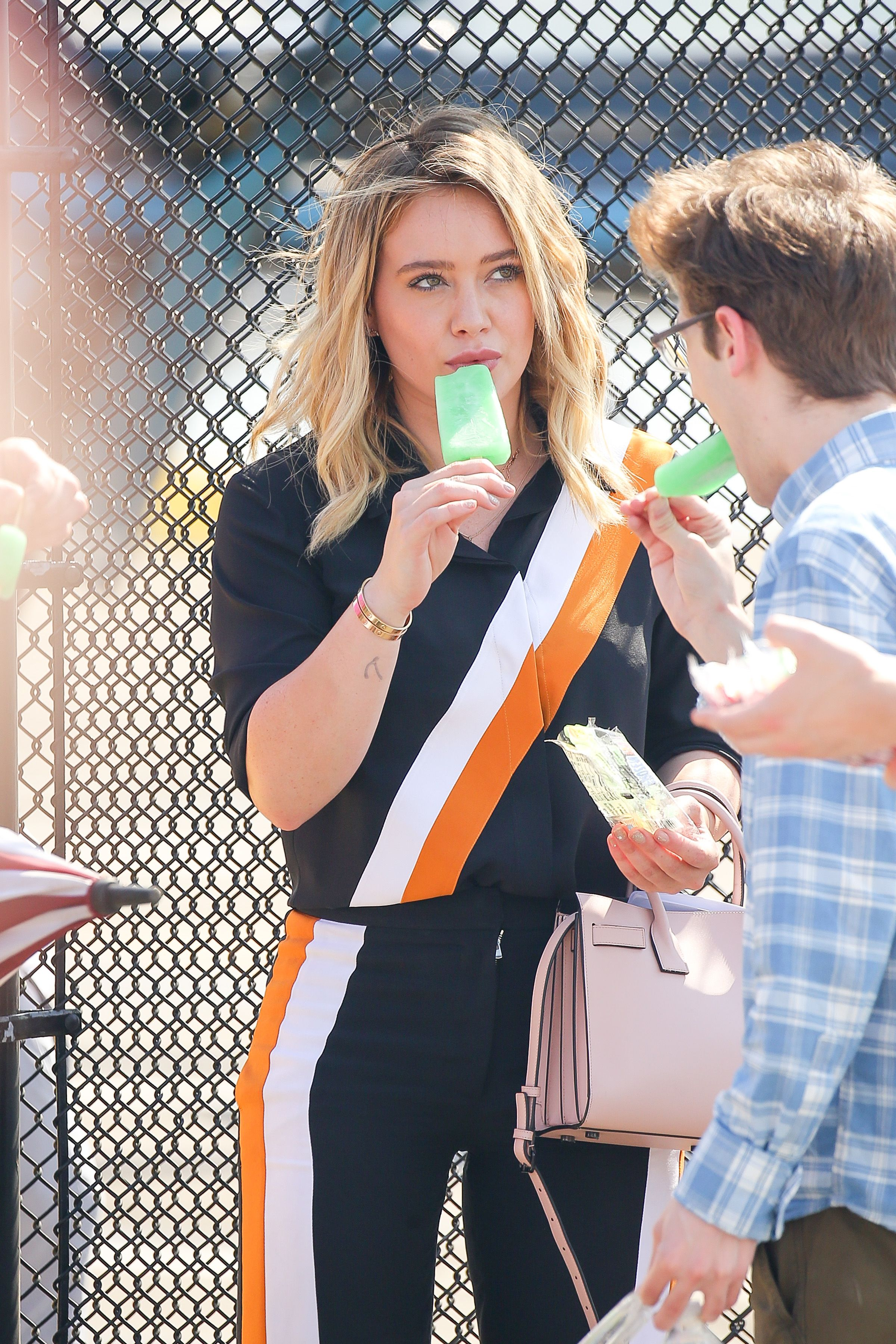 Hilary Duff - On the Set of 'Younger' in New York City 7/6/2016