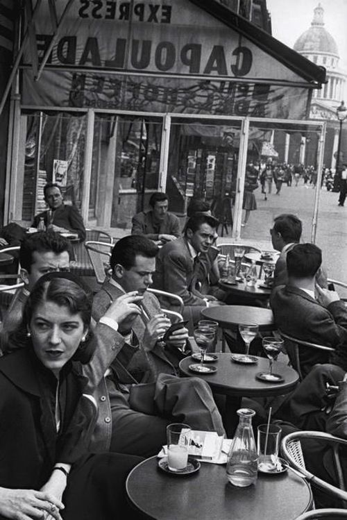 last picture show u201c u201cinge morath cafe capoulade paris 1954 rh pinterest com