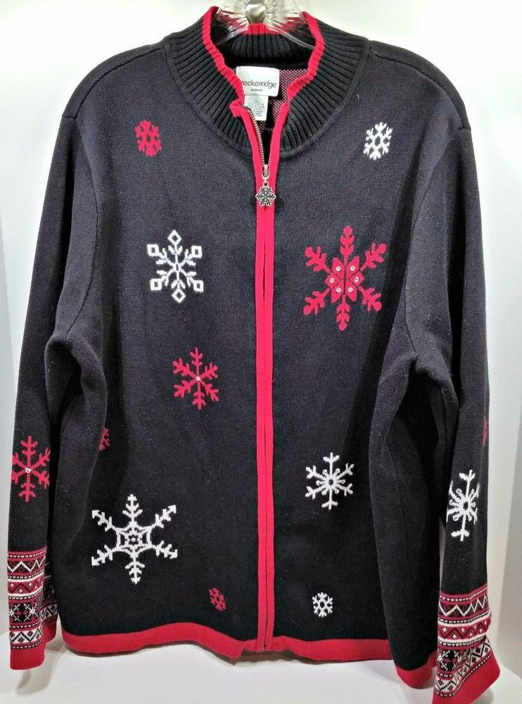 shop ebay ugly christmas sweater holiday party women plus size 2x zip bedazzle xxl snow f8 - Ebay Ugly Christmas Sweater