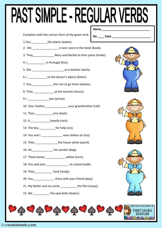 Regular Verbs Past Tense Regular Verbs Ficha Pasado Simple Ingles Material Escolar En Ingles Temas De Ingles [ 1413 x 1000 Pixel ]