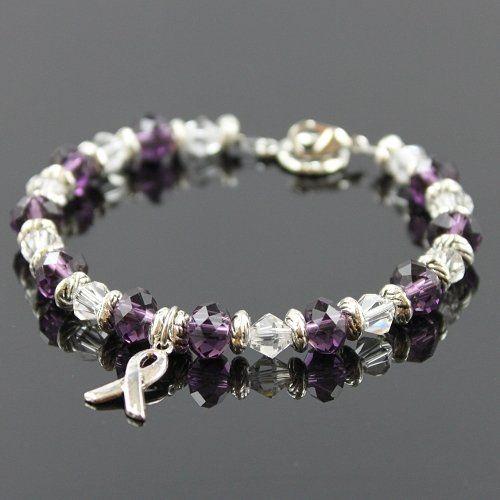 Pin By Michelle Kmetz On Bisuteria Awareness Jewelry Crystal Beads Bracelet Beaded Bracelets