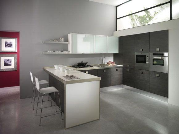 Cucina moderna Eden in Rovere Grigio | Küchen | Pinterest | Küche ...