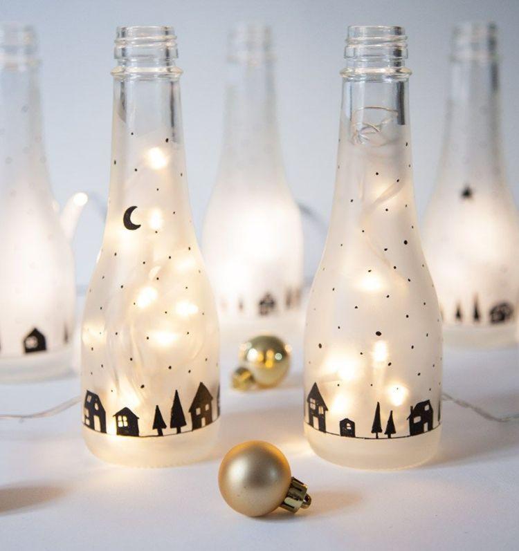 Weihnachtsdekoration für den Tisch machen: Diese 7 DIY-Projekte sind in 20 Minuten erledigt! - Eventplanung #weihnachtsdekoglas