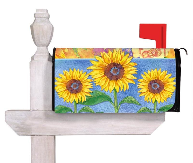Bold Sunflower Mailbox Cover Mailbox covers, Mailbox, Cover