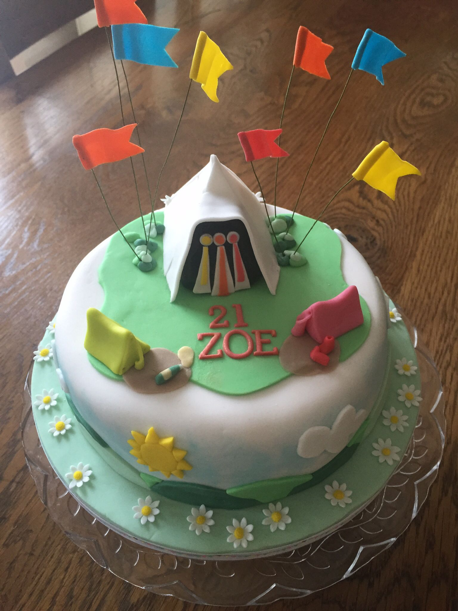Festival Glastonbury Style Cake