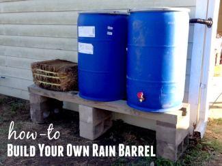 How To Build A Rain Barrel For Under 30 Rain Barrel Water Barrel Cute Diy Projects