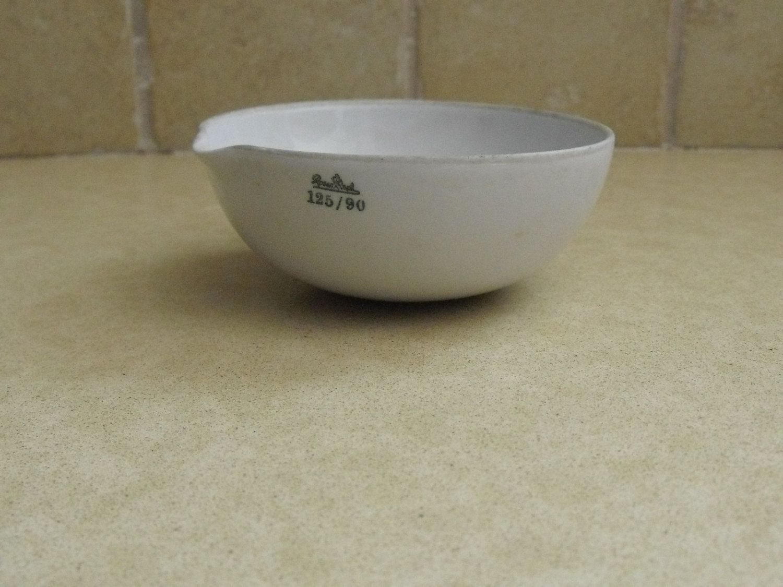 Antique porcelain bowl laboratory evaporating dish Rosenthal Germany ... for Laboratory Evaporating Dish  53kxo