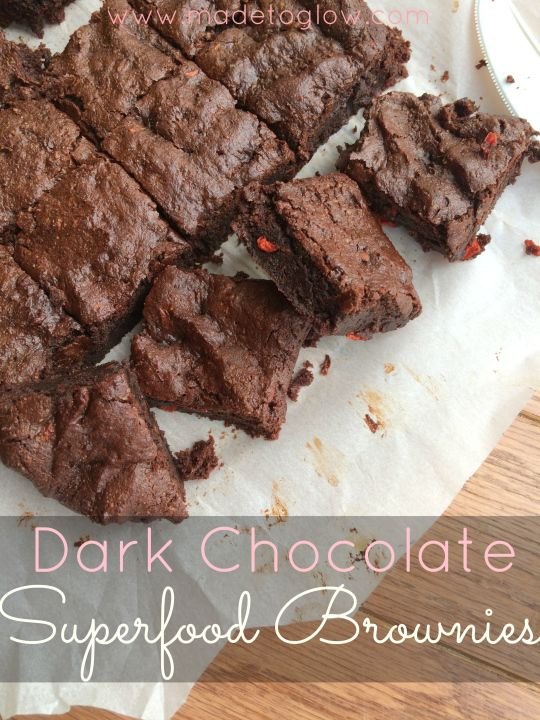 Dark Chocolate Superfood Brownies - gluten free and dairy free