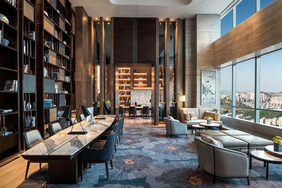 Hilton jinan south hotel residences lobby front for Hoteles diseno milan