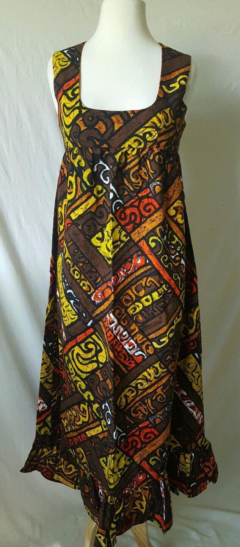 Us multicolor handmade long sundress with zipper back s hippie