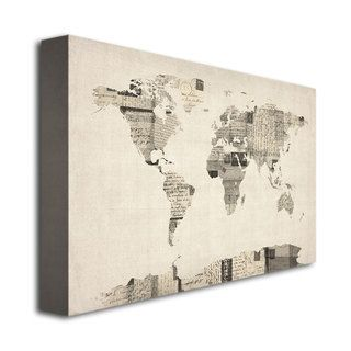 Michael tompsett vintage postcard world map canvas art overstock michael tompsett vintage postcard world map canvas art overstock publicscrutiny Choice Image