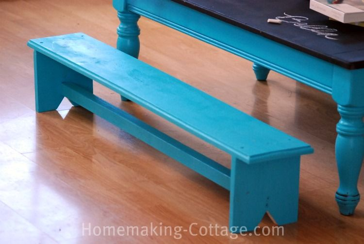 Make A Kidu0027s Chalkboard Table With Benches   Homemaking Cottage U0026.