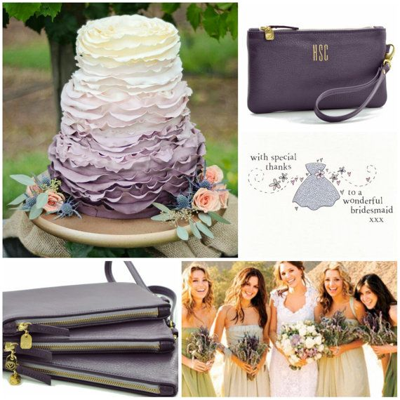 Monogrammed Bridesmaid Clutches Wristlets Gift Leather Wristlet Personalized Gifts