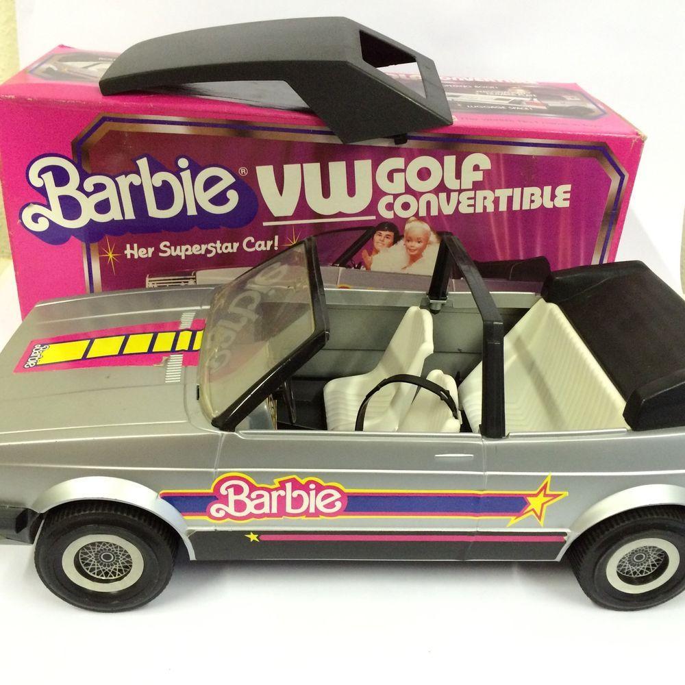 Vintage us mattel barbie doll vw golf convertible car