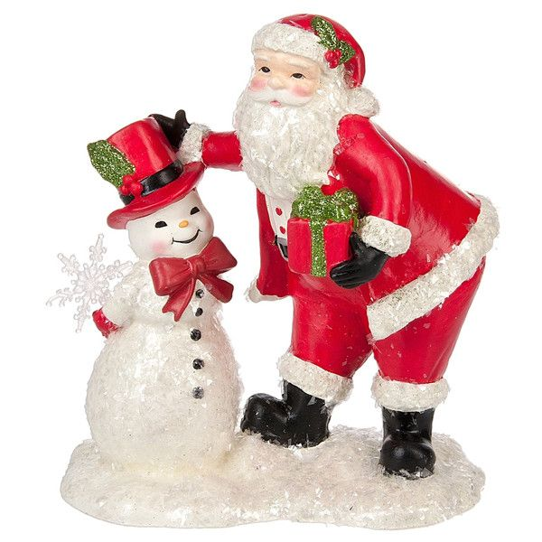 Midwest-CBK Santa & Snowman Figurine (210 DKK) Liked On