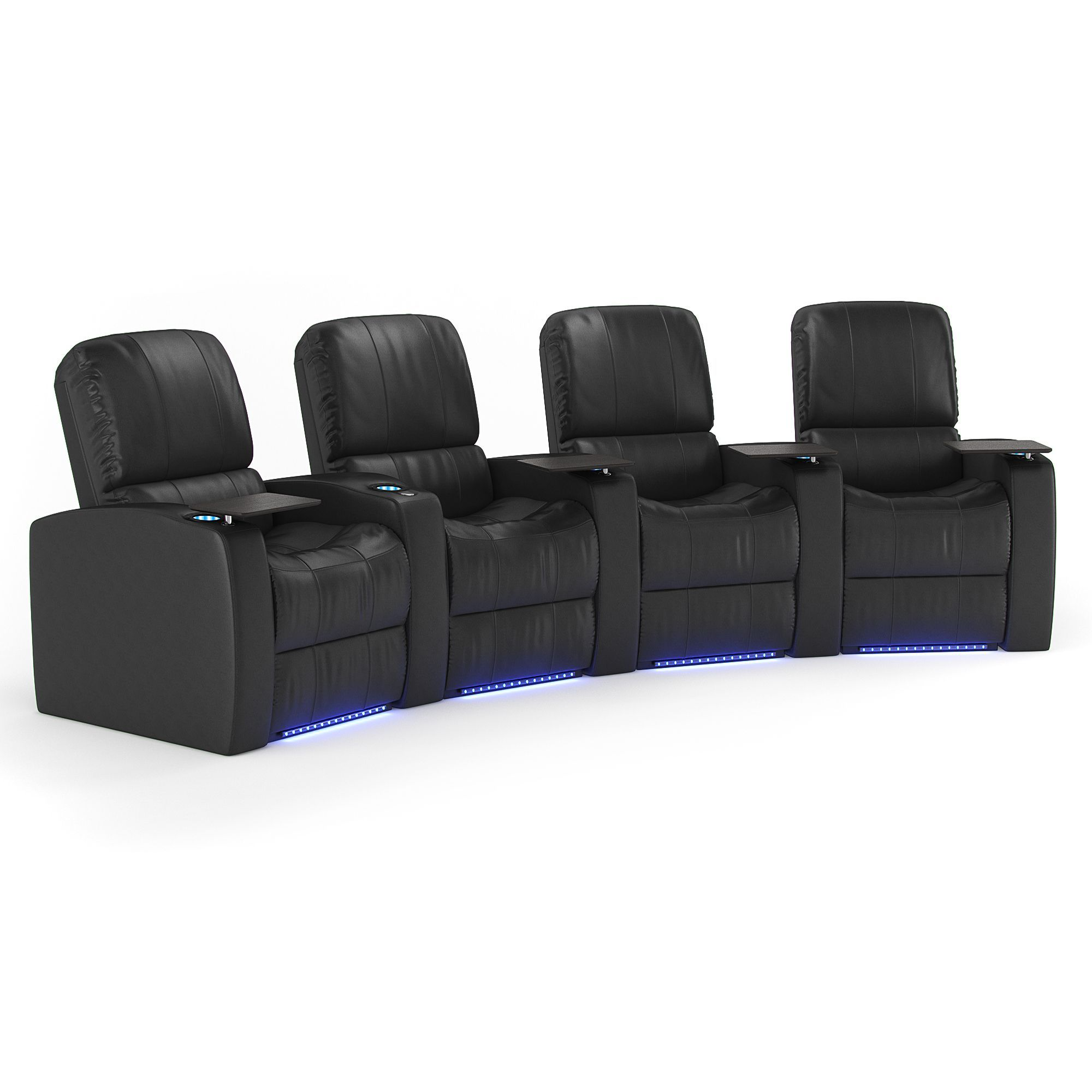 Octane Blaze XL900 Seats Curved/ Power Recline/ Black Premium ...