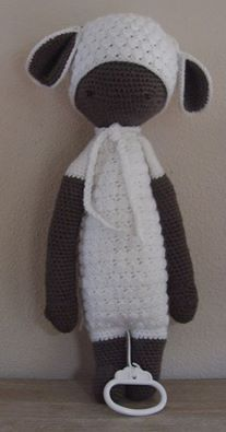 LUPO the lamb made by Ilonka H. / crochet pattern by lalylala