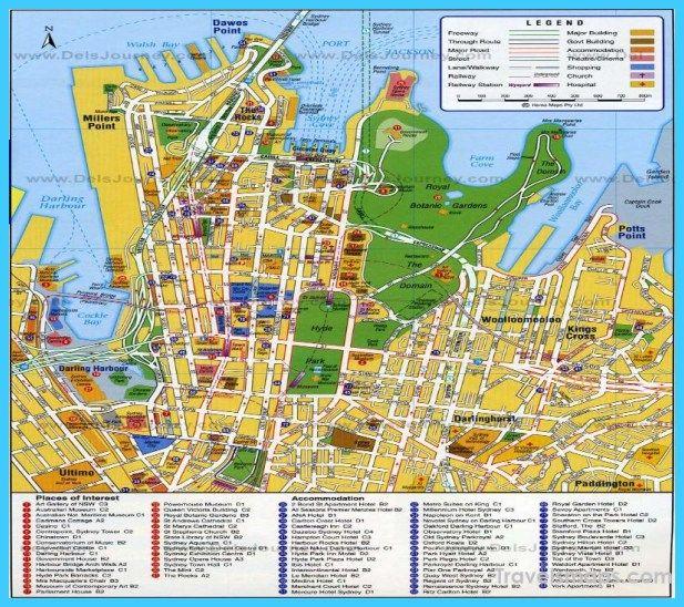 Sydney Australia Map City.Awesome Map Of Sydney Travelsmaps Sydney Map Travel Maps Map
