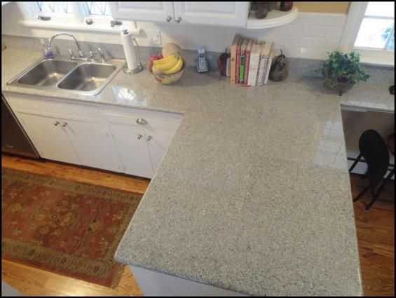 Customer Installed Imperial White Granite Lazy Tiles And 24x24