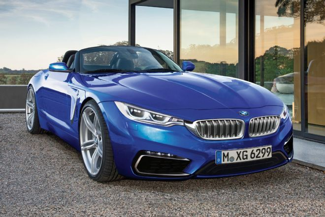 2017 BMW Z4 Blue Color Pictures