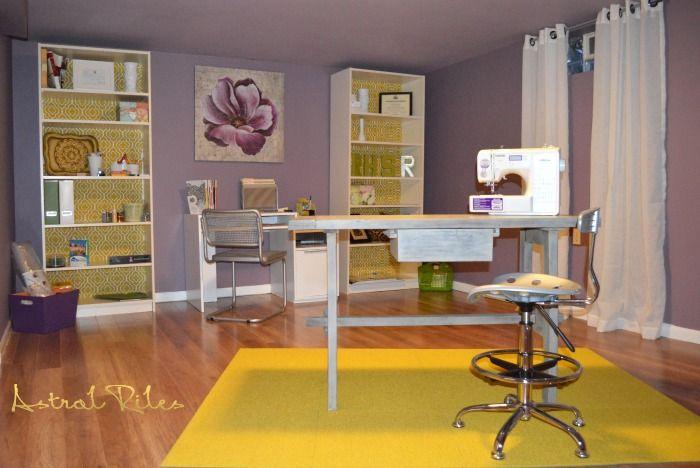 Dark Basement Room Transformed To Bright U0026 Fun Craft Room
