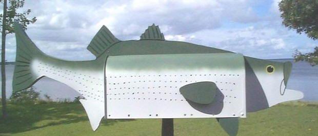 Striped Bass Mailbox