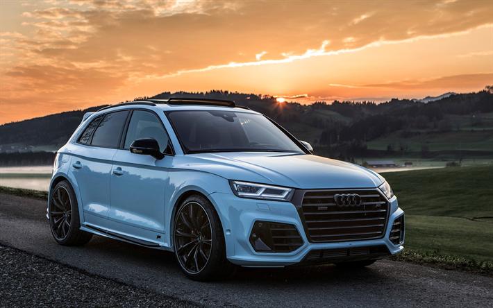 Download Wallpapers Audi Sq5 2018 Abt Widebody White New Q5 Crossover Tuning Q5 German Cars Audi Besthqwallpapers Com Audi Q Audi Audi Cars