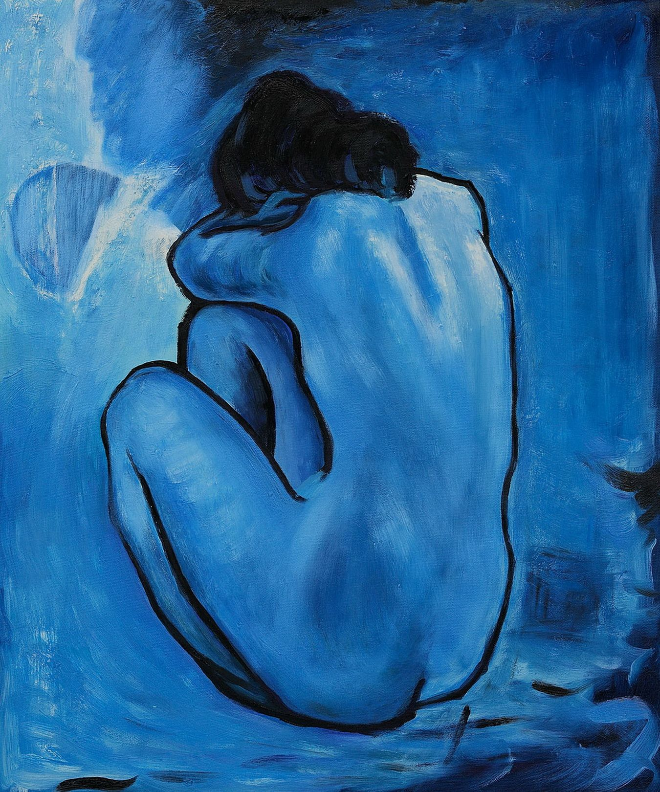 Blue Nude by Pablo Picasso (1902) : The Blue Period (Spanish ...