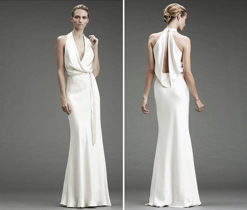 O vestido de noiva simples é perfeito para noivas modernas ...