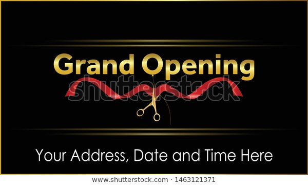 Grand Opening Vector Background Gold Text Stock Vector Royalty Free 1463121371 Grand Opening Vector Background Gold Text