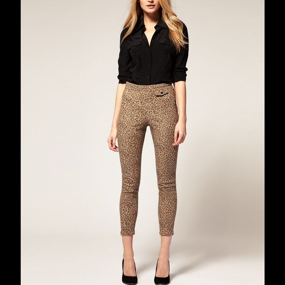 37b72bf03ee5 Whistles Animal Print, Cigarette Trouser Leopard print trousers from  Whistles. Very flattering- land just above the ankle, skinny fit.