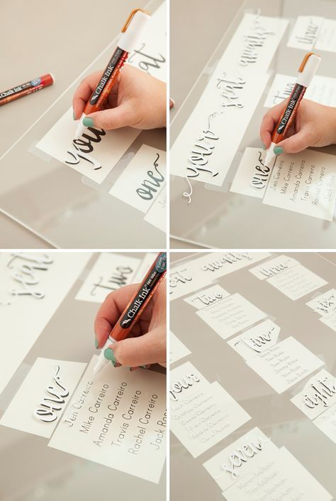 The Most Awesome Hand Lettered Acrylic Wedding Si Acrylic
